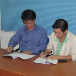 Signing Partnership Agreement between KEYfields and SCTS