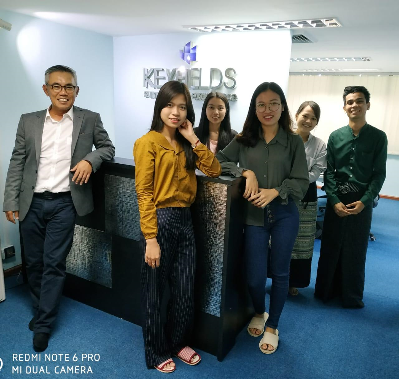 Key members of KEYfields' Yangon Solutions Team